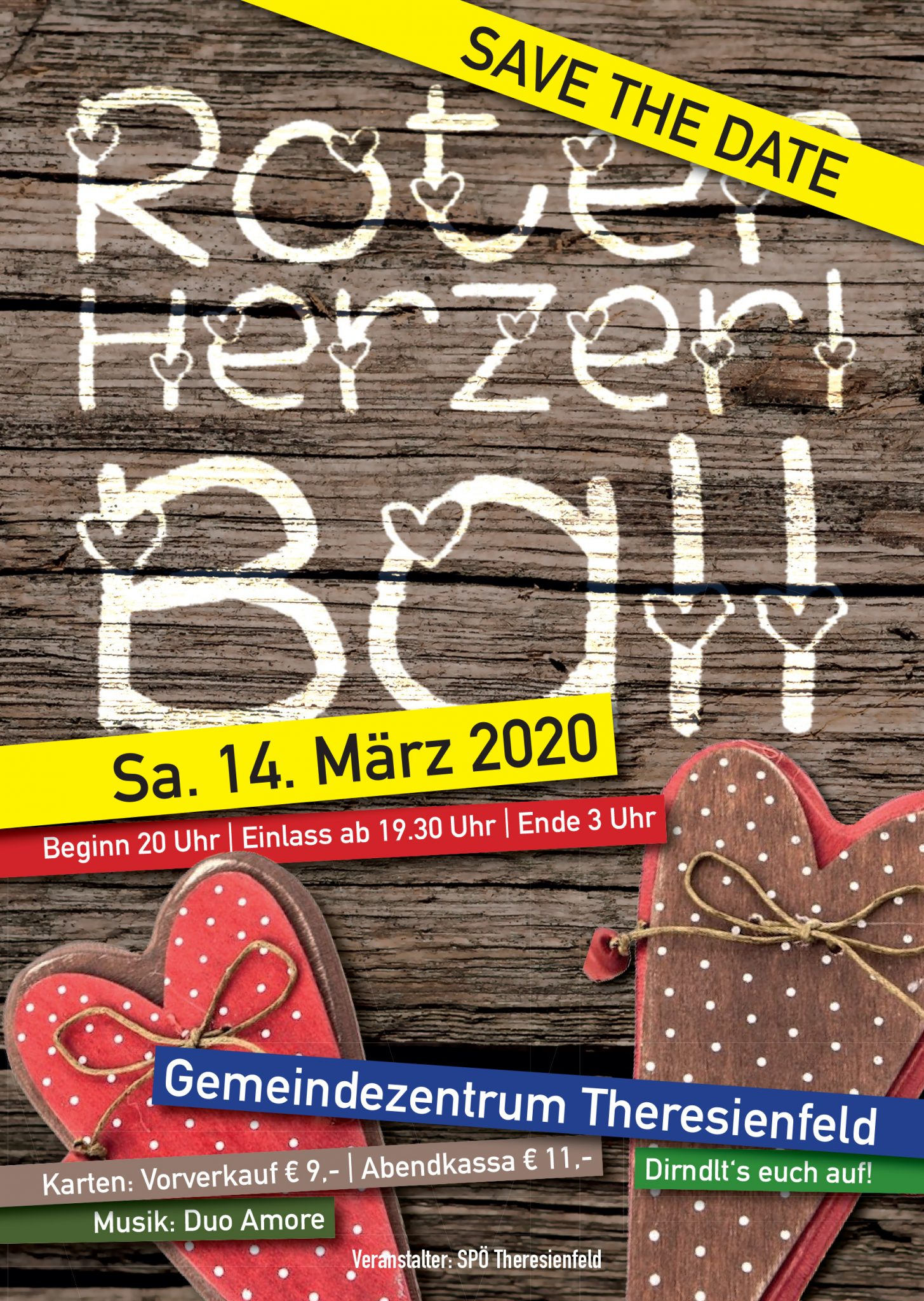 Save the Date: Roter Herzerl Ball 2020